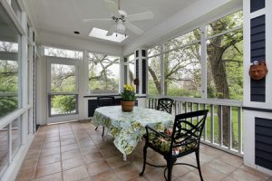 33458695 - porch in suburban home with tile floor
