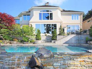 50557324 - new home with backyard infinity pool